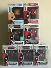 Funko Pop Deadpool Set of 7 - Exclusives Pirate Cowboy