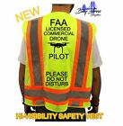 FAA LICENSED COMMERCIAL DRONE PILOT HI VISIBILITY SAFETY VEST CLASS 2 green