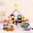 Christmas Plush Nativity Set of 10 Mary Jesus Joseph Angel Wiseman Animals NIP
