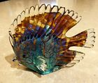 Beautiful Murano Art Glass Hand Made Tropical Discus Fish Figurine Paperweight