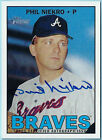 PHIL NIEKRO 2016 TOPPS HERITAGE REAL ONE SIGNATURE AUTOGRAPH AUTO