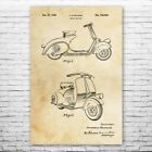 Moped Scooter Poster Print Rider Gifts Moped Blueprint Vintage Scooter