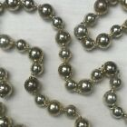 VINTAGE STYLE GOLD MERCURY GLASS LARGE BEAD CHRISTMAS GARLAND NEW IN BOX