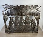 Handmade Pressed Metal Nativity Scene Fair Trade Recycled Art Indoor Outdoor