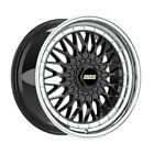 4 Wheels 18 inch Black with Polish Lip Rims fits NISSAN MURANO CABRIOLET 2011
