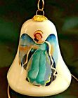 ANGEL WITH DOVE Glass Ornament Reverse Painted New