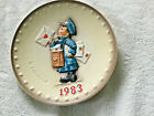 1983 Goebel Hummel W. Germany Annual Plate 1983 no box euc