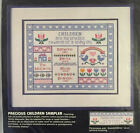 Dimension Precious Children Sampler Count Cross Stitch Sealed Kit Folk Art Birth