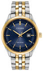 Citizen Eco Drive Mens Two Tone Blue Dial Date Indicator 41mm Watch BM7258 62L