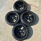 2014 2015 2016 PORSCHE PANAMERA TURBO II BLACK FACTORY OEM 19 WHEELS TIRES SET