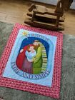 Quilt for Christmas Wallhanging Nativity Scene Handmade Quilt Christmas Quilt