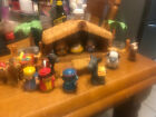 Fisher Price Little People Christmas Story Nativity Scene Stable Manger