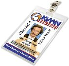 Anchorman RON BURGUNDY Channel 4 News Press Pass ID Badge Name Tag Card Laminate