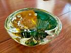 Vintage Murano Blown Glass Ashtray With Gold Flake inlay art Work Rare 6 1 2