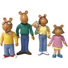 VTG PBS KIDS ARTHUR Lot 4 PVC Figures ARTHUR DW MOM DAD KATE Hasbro 1996 EUC