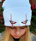 Stephen King's It Pennywise scary Eyes Embroidery Beanie Cap Knitted Bonnet Hat