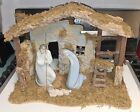 Lladro Nativity Manger Set Jesus Mary  Joseph 4535 4534 4533 + Manger
