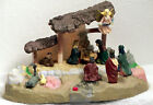 Talking Narrated Nativity Scene  Dramatic Lighting Characters One at a Time