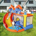 Inflatable Mighty Bounce House Castle Jumper Blower with Slide Splash Pool New