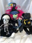 Ty Beanie Babys Lot Of 3 Halloween Creepers, Haunt, Scary