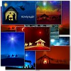 Nativity Box Pack Christmas Cards Premium 10 Mixed Designs with Envelopes