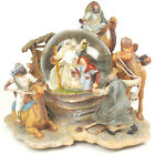 Christmas Nativity Snow Globe O Holy Night Mary Joseph Baby Jesus 3 Kings Camels