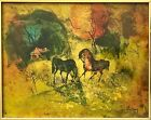 Original HOI LEBADANG Lithograph Abstract Wild Horses Plate Signed Kulicke Frame