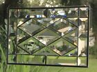 Contemporary Beveled Stained Glass Window Panel Hanging 9 1 2 X 13 1 2