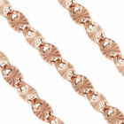 3MM Sterling Silver 14k Rose Gold Plated Valentino Link Italian Chain Necklace