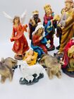 8 Christmas Nativity Scene Set Figures Resin Nacimiento Navideo 11pcs