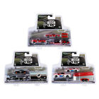 Racing Hitch and Tow Set of 3 pieces Series 2 1 64 Diecast Model Cars by Greenl