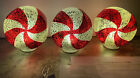 ILLUMINATED WRAPPED MERCURY GLASS CANDIES Valerie Parr Hill QVC Peppermint Candy