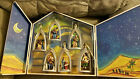 KURT ADLER NATIVITY SET MADE FOR SAKS FIFTH AVE WOOD BOX 6 RESIN ORNAMENTS RARE
