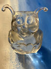 FENTON CLEAR GLASS LOVE LUV BUG MARKED FENTON