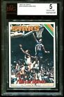 1975 TOPPS MOSES MALONE RC rookie #254 BGS BVG 5 PSA centered