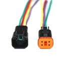 Black Assembled Deutsch 2346812 Pin12 14 And 16 Awg Connector