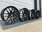 PORSCHE PANAMERA TURBO S FACTORY OEM 20 WHEELS RIMS BLACK GENUINE 5x130