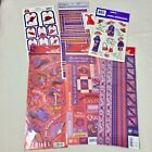 Red Hat Society Sticker Lot Scrapbooking Glitter Embossed KCompany Red Hatters
