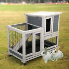 37 Wheeled Rabbit Hutch Small Chicken Coop Hen Small Animal House Pet Cage Pets