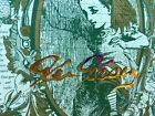 Ken Kesey signed Blotter art Alice Through The Looking Glass vintage autograph