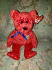 TY Beanie Baby ~ DECADE Red Bear 10 Year Anniversary ~ NWT Retired PE Pellets