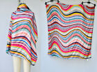 PAUL SMITH Silk Scarf Wrap Shawl HUGE BIG Colorful Stripes Striped Hand Stitched