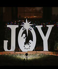 CHRISTMAS JOY NATIVITY YARD SIGN SILHOUETTE aons D8