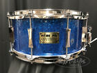 Pork Pie Custom One of A Kind 65x14 Maple Shell Snare w Re Rings in Blue Glass