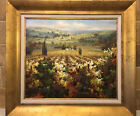 Modern Impressionism Landscape Oil on Canvas Painting Vineyard C Lewis