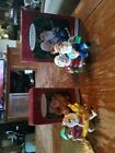 Hallmark THE CLAUSES ON VACATION Santa Ornaments #1 and #2 in Series 1997 1998