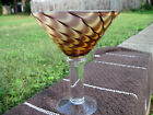 Beautiful Pulled Feather Heavy Art Glass Martini Glass