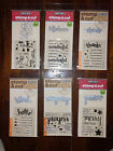 Variety of 7 Hero Arts Clear Stamp  Cut Sets 2 FREE BLACK INK PADS