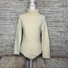 Perche No angora wool turtleneck sweater sz M made in Italy Ivory
