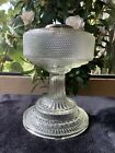 Vintage Aladdin Clear Crystal Colonial Hobnail Oil Lamp 1933